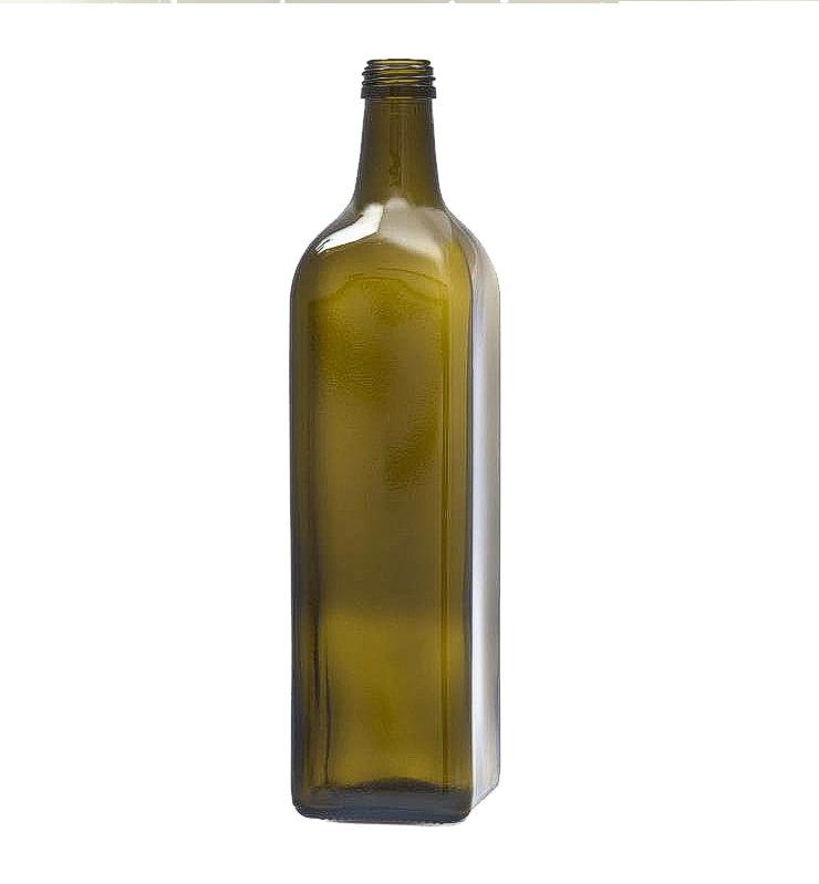 Bottiglia olio vetro verde