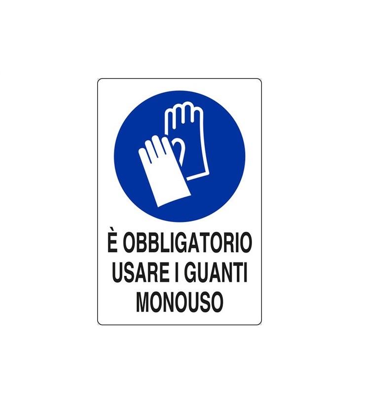 Cartello-Obbligatorio uso dei guanti-